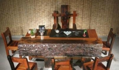 随州船木一品茶桌椅组合批发实木中式家具仿古茶几